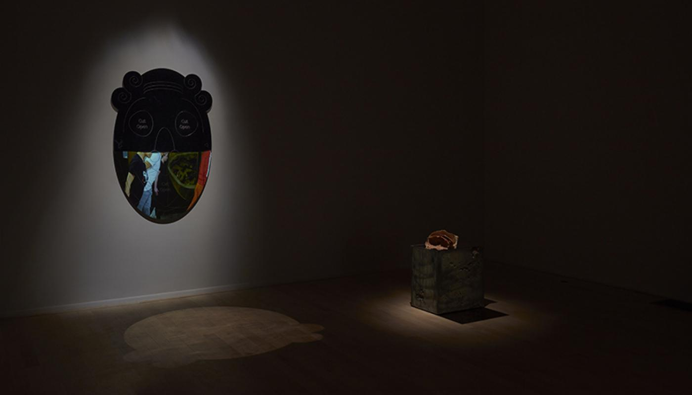 """Caleb Engstrom """"The Face of Another"""" installation view. UC Irvine © 2020. Photo: Paul Salveson"""