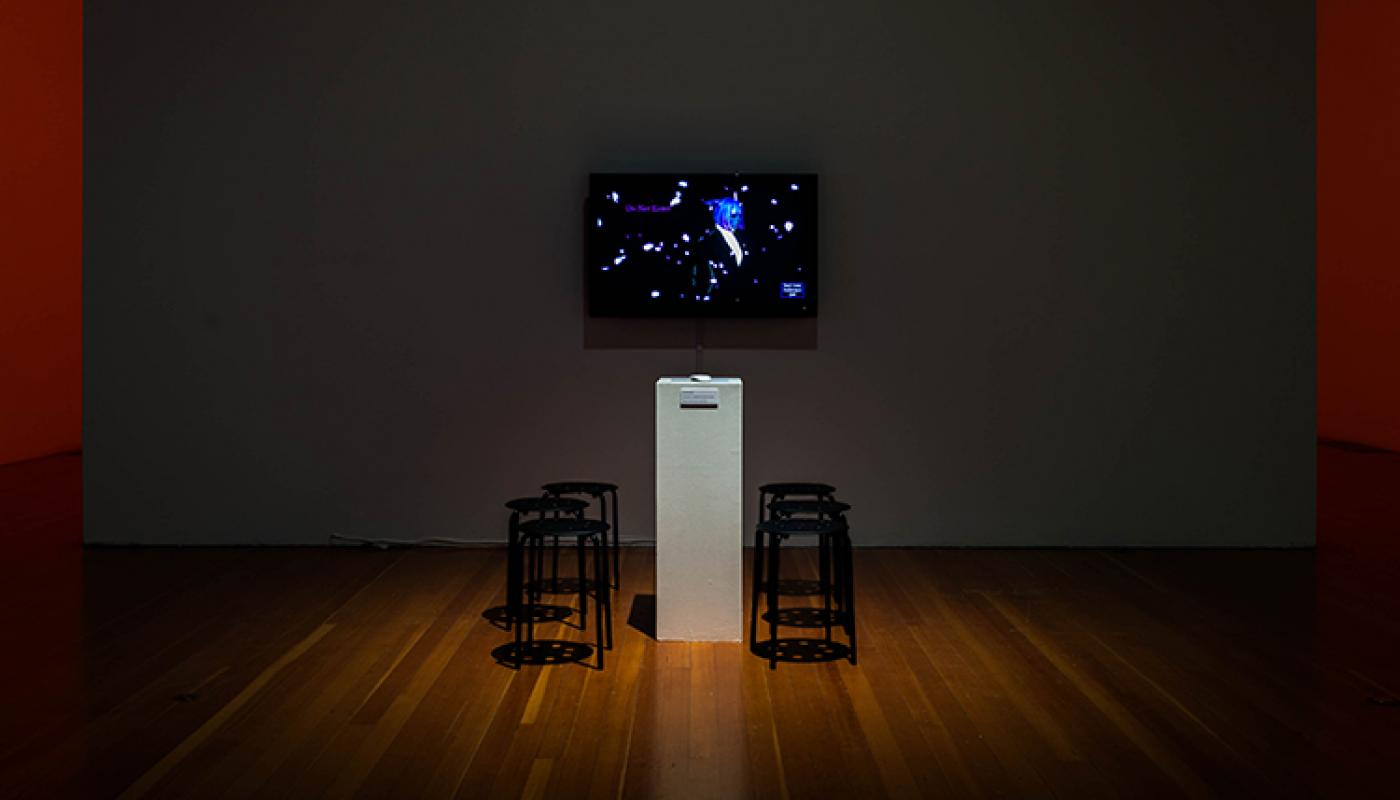 Do You Want to Quit? installation view, University Art Galleries, UC Irvine © 2018 Photo: Yubo Dong