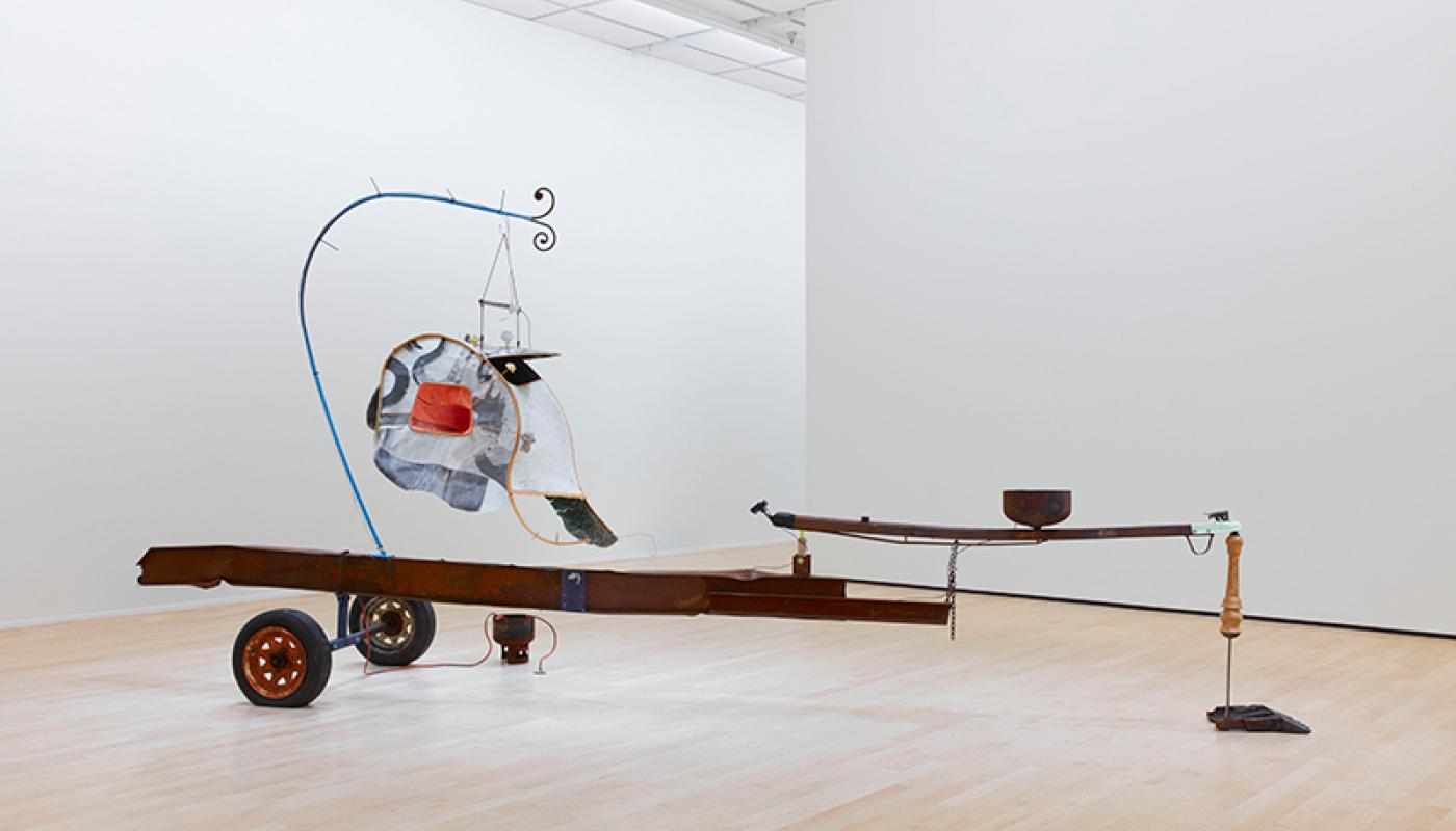 "Chris Warr, ""Tails of Tales"" installation view, University Art Gallery, UC Irvine © 2020. Photo: Paul Salveson"