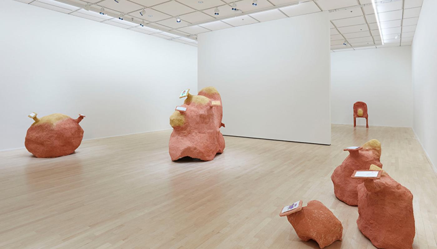 "David Chen, ""Nearby, Faraway,""installation view, University Art Gallery, UC Irvine © 2020. Photo: Paul Salveson"