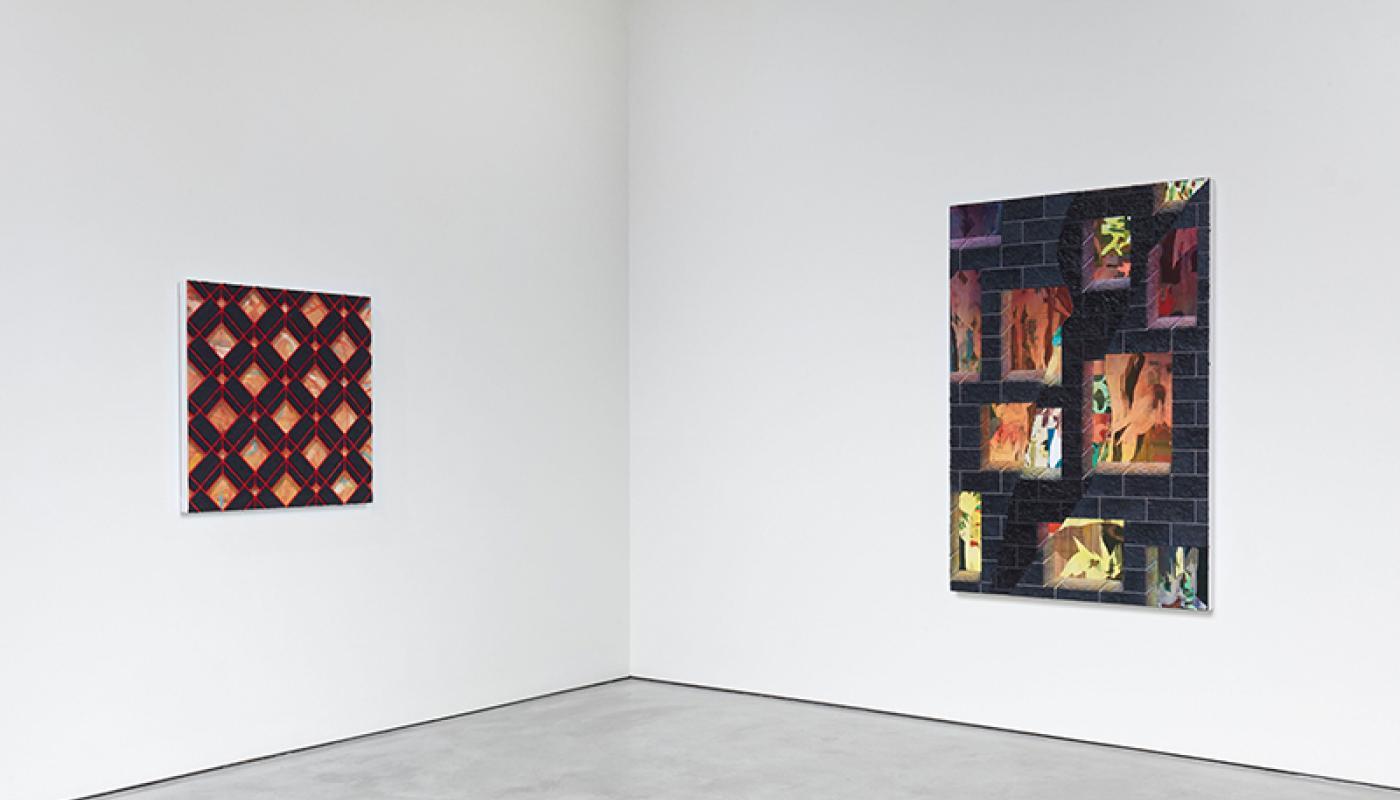 "Jackson Hunt, ""New American Paintings,""installation view, UC Irvine © 2020. Photo: Paul Salveson"