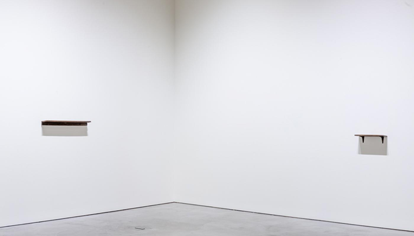 """""""Terms of Use"""" installation view, CAC Gallery. University Art Gallery, UC Irvine © 2019. Photo: Yubo Dong."""