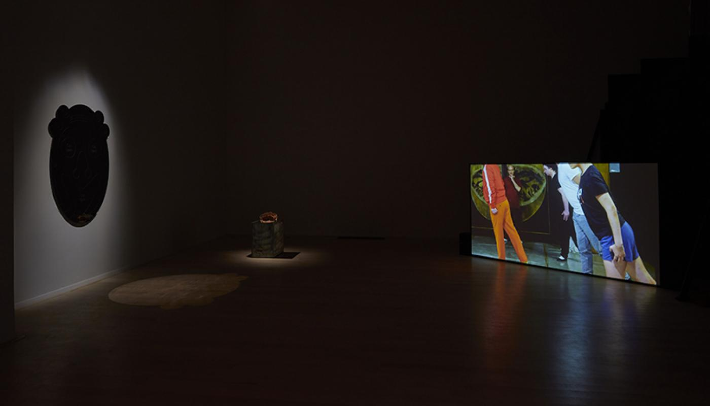 """Caleb Engstrom """"The Face of Another"""" installation view. University Art Gallery, UC Irvine © 2020. Photo: Paul Salveson"""