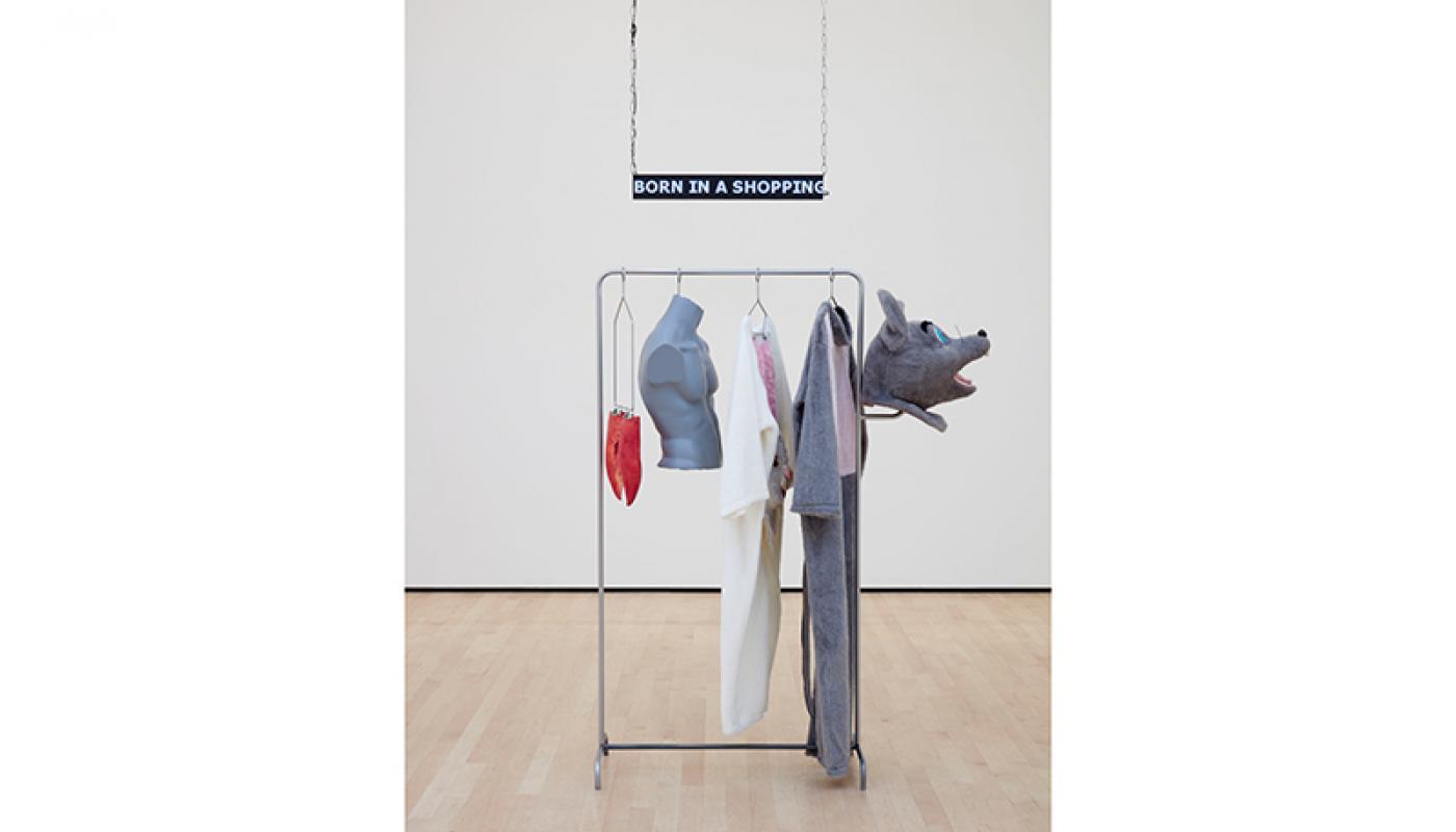 """Ellen Schafer, """"Adult Costume,""""installation view, UC Irvine © 2020. Photo: Paul Salveson."""