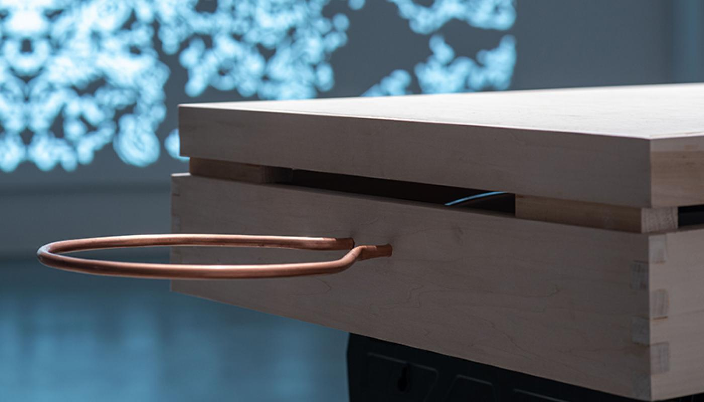 "Morgan Cuppet-Michelsen, ""Codex, Kodaks, Codecs"" installation view. Room Gallery, UC Irvine © 2020. Courtesy of the artist."