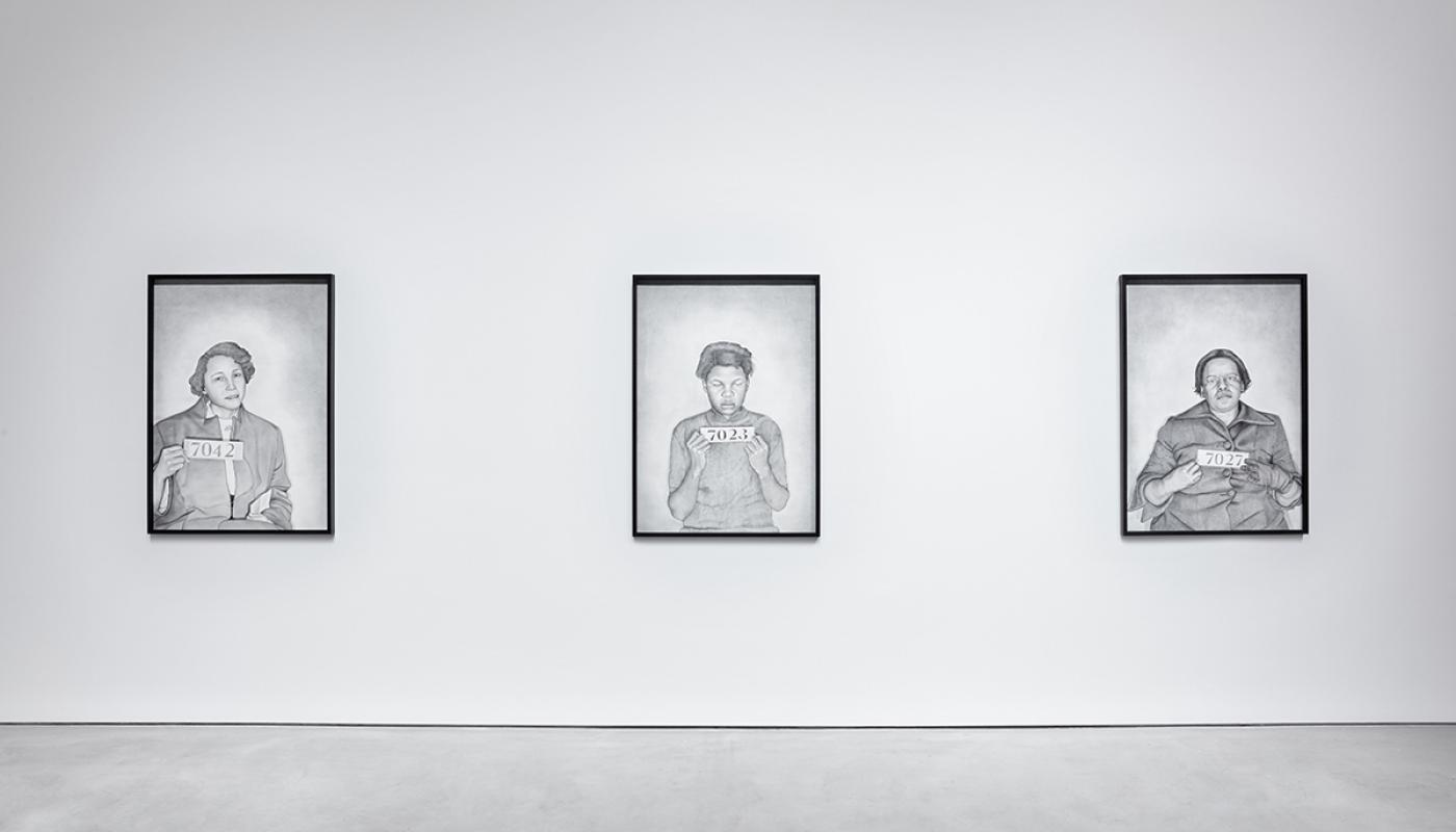 Lava Thomas, Mugshot Portraits: Women of the Montgomery Bus Boycott, Jo Ann Robinson; Mugshot Portraits: Women of the Montgomery Bus Boycott, Alberta J. James; Mugshot Portraits: Women of the Montgome