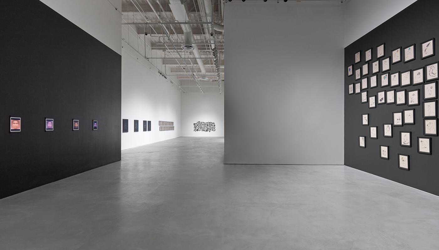 The Black Index, installation view, CAC Gallery. University Art Gallery, UC Irvine © 2021. Photo by Paul Salveson.