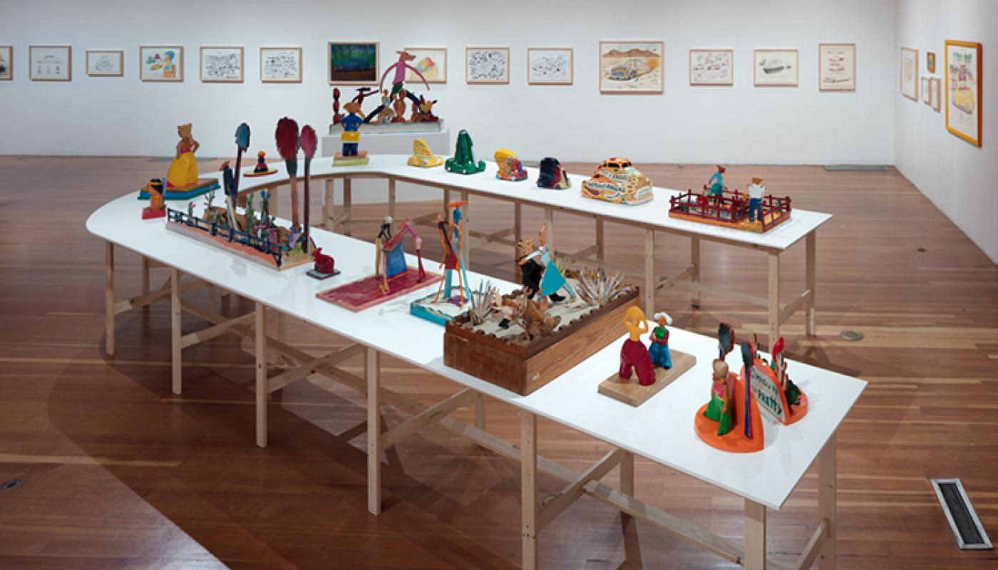 "University Art Galleries, UC Irvine © 2017. Photo: Fredrik Nilsen © 2017 The Estate of Gilbert ""Magu"" Lujan"