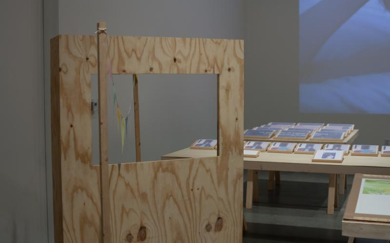 Suspended Projection Installation View
