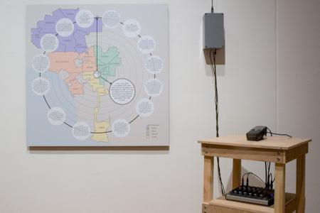 installation view, Jeff Cheng, The Look of Law
