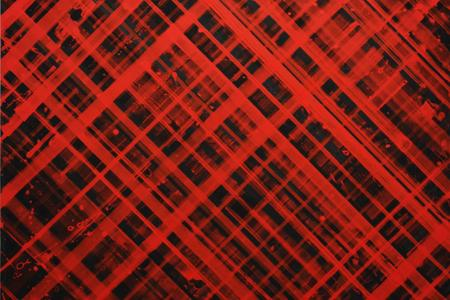 Ed Moses, The Red One (detail), acrylic on canvas, courtesy of Jill and Duane Meltzer