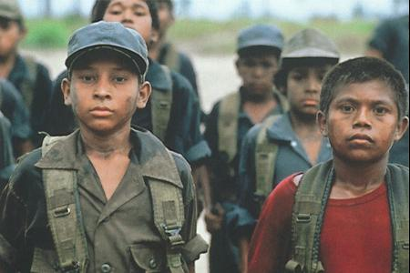Film still from Ballad of the Little Soldier 1984