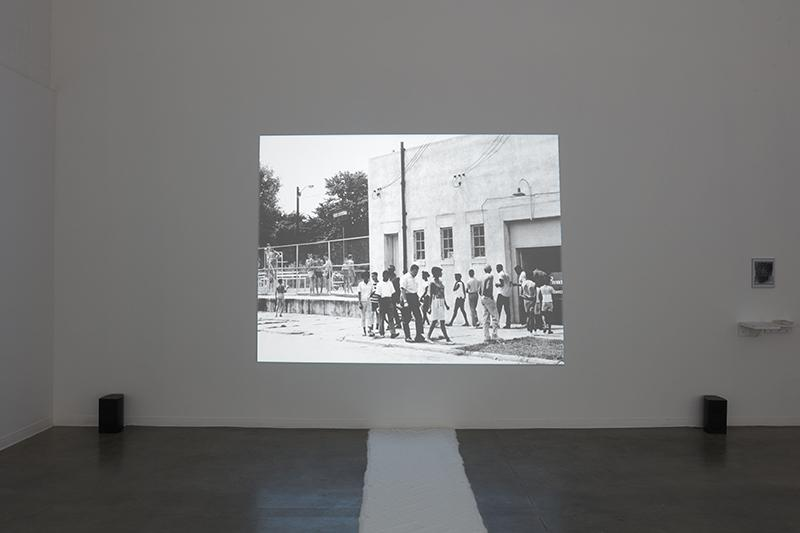 """Ethan Philip McGinnis, """"Out of Egypt, into the Great Laugh of Mankind…""""installation view, Room Gallery, UC Irvine © 2020. Photo: Paul Salveson"""