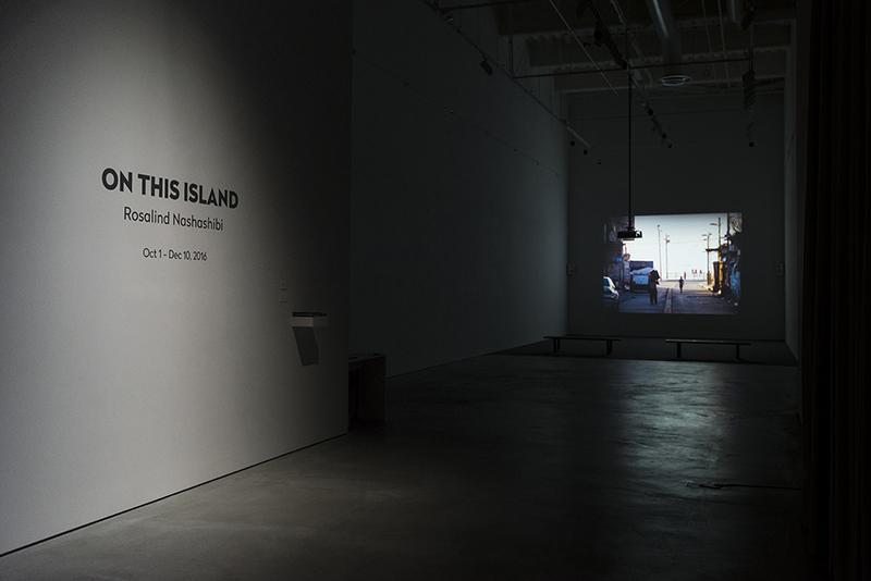 On This Island. Rosalind Nashashibi © 2016 UCI University Art Gallery. Photo: Jeff McLane