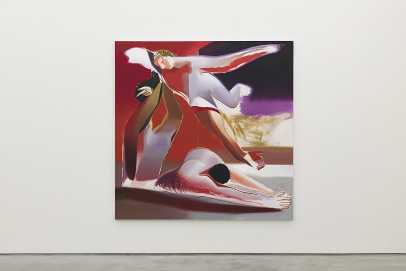 Ecstasy, 2019 Oil on Linen 78.75 x 78.75 inches. University Art Galleries, UC Irvine © 2020 Photo: Jeff McLane Studio, Inc.