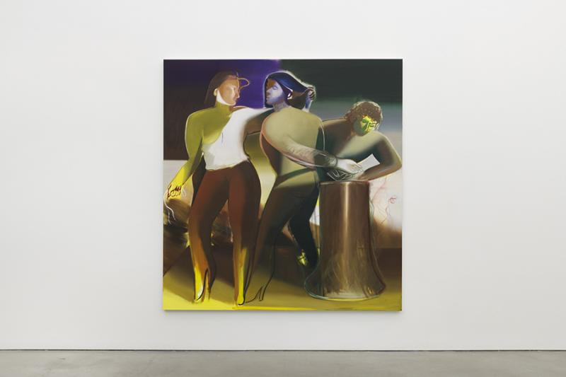 Liaison, 2019 Oil on Linen 82.7 x 78.75 inches. University Art Galleries, UC Irvine © 2020 Photo: Jeff McLane Studio, Inc.