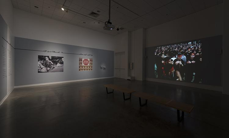 "Beirut Lab 1975(2020) installation view: Jalal Toufic, ""The Lamentation Series: The Ninth Night and Day,"" University Art Galleries, UC Irvine © 2019 Photo: Jeff McLane"
